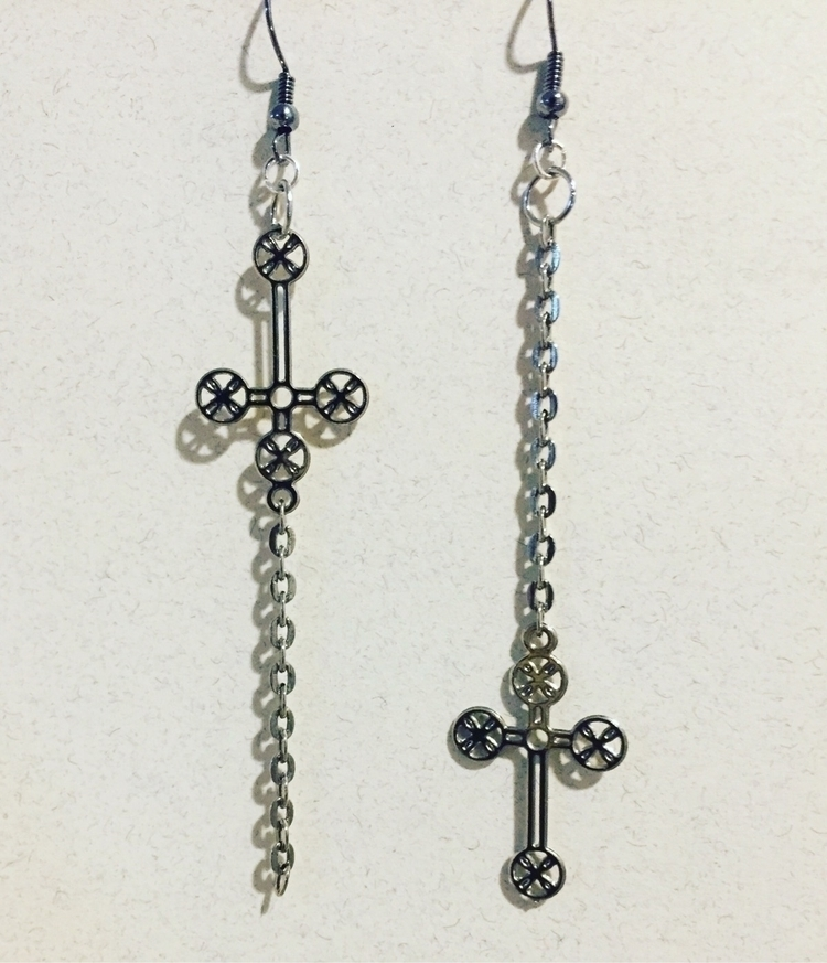 Handmade cross inverted dangle  - jillspail | ello