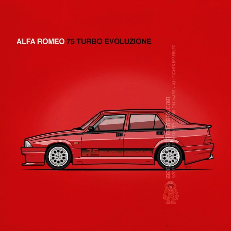 Alfa Romeo 75 Turbo Evoluzione  - monkeycrisisonmars | ello