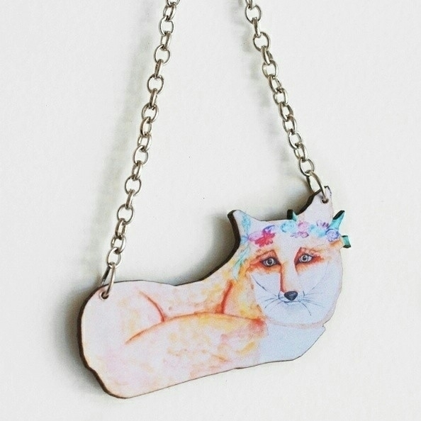 [[ RESTING FOX NECKLACE ]] orig - deerandfox | ello