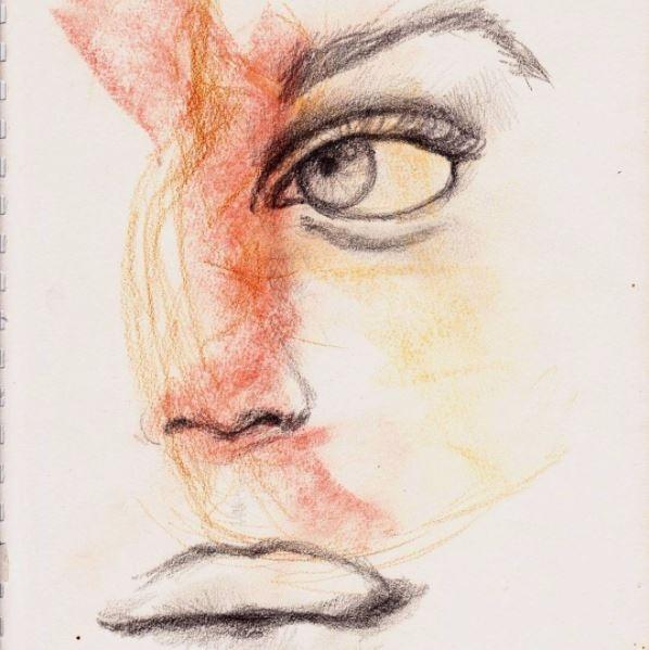 pencil sketch sketchbook - artlilliums   ello