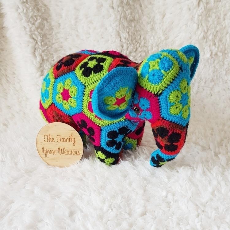 amazing gorgeous vibrant elepha - thefamilyyarnweavers | ello