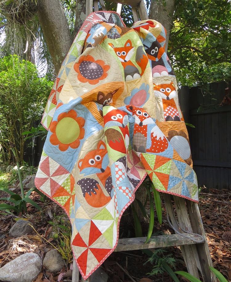 Fox Run design quilt quilts - textiles - theredbootquiltco | ello