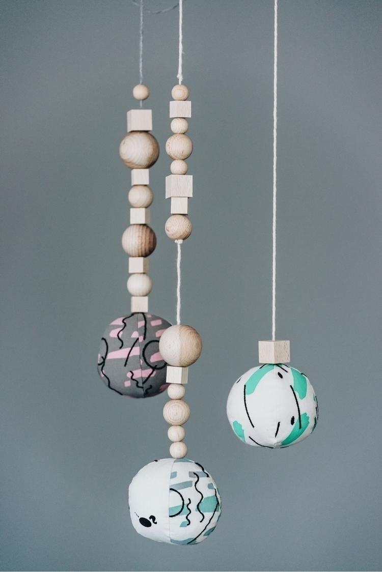 Fabric pendulum mobile . unblea - inorogthelabel | ello