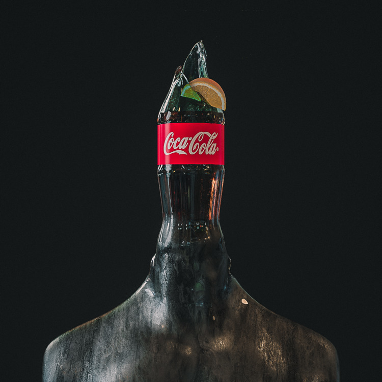 3d, cinema4d, cola, cokehead - themandesigns | ello