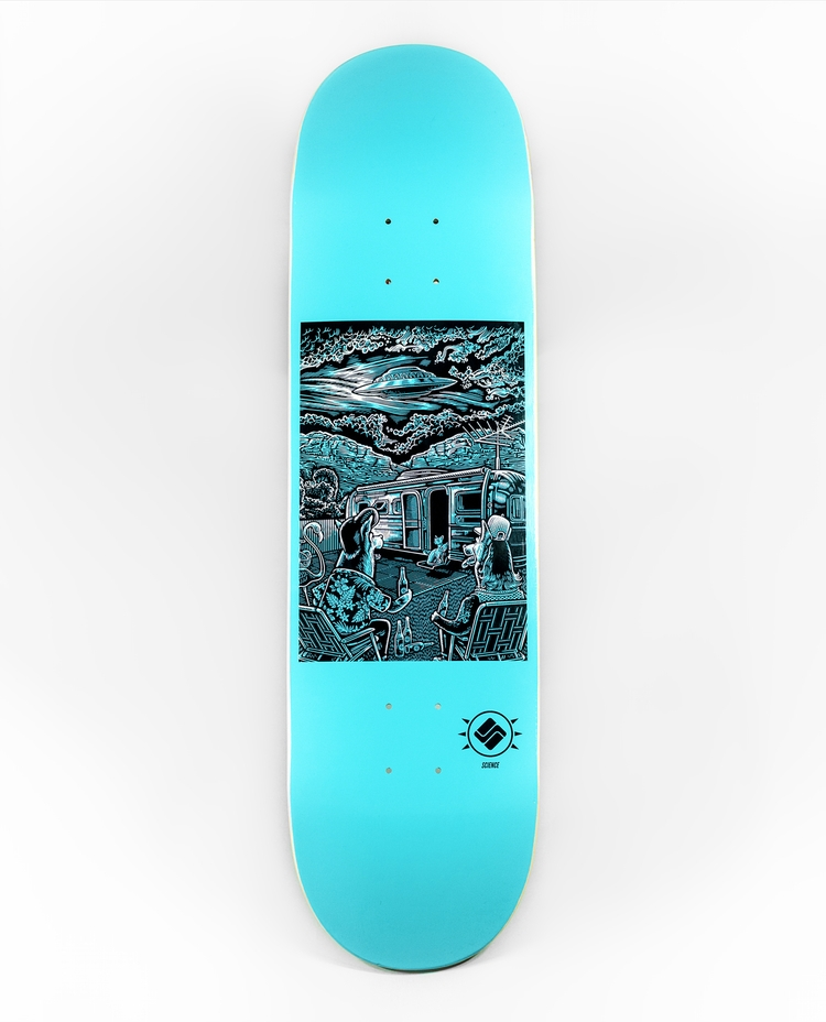 'Visitors' artwork Matthew Gree - scienceskateboards | ello