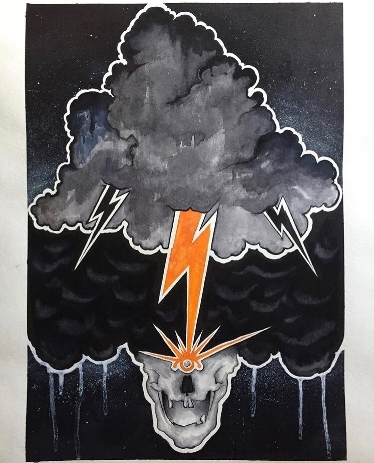 Black Cloud commissioned piece  - very_decent | ello