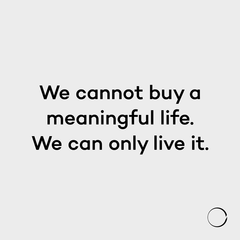 buy meaningful life. live minim - minimalismlife | ello