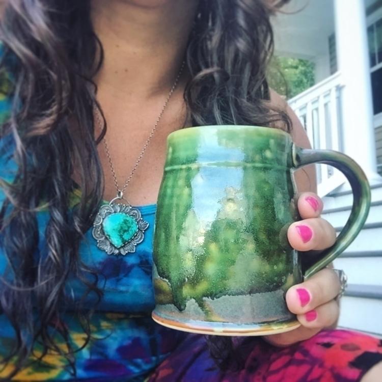 mossy green glaze - pottery, ceramics - elanpottery | ello