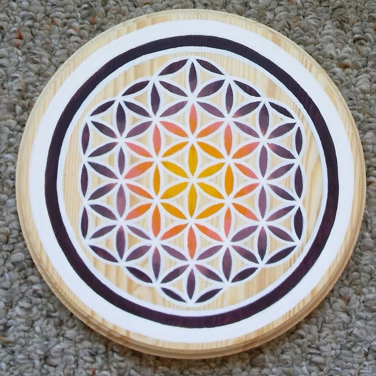8 hand painted crystal grid flo - hyrulian_creations | ello