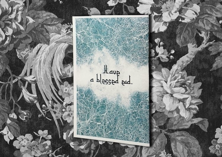 Blessed Eid - greetingcard - vexl33t | ello