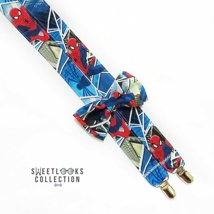Spiderman suspender bow tie - spiderman - sweetlookscollection | ello