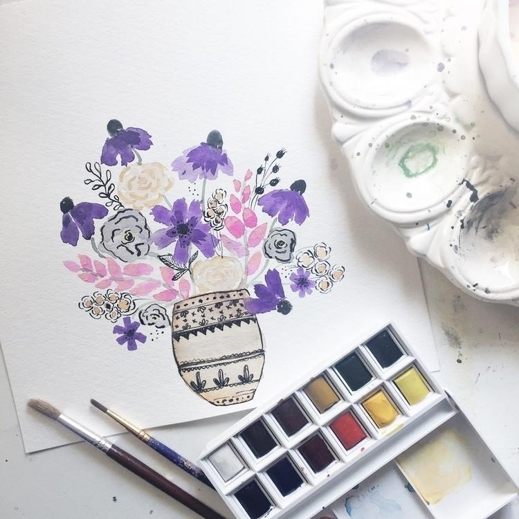 Watercolor + ink - astrobarndesign | ello