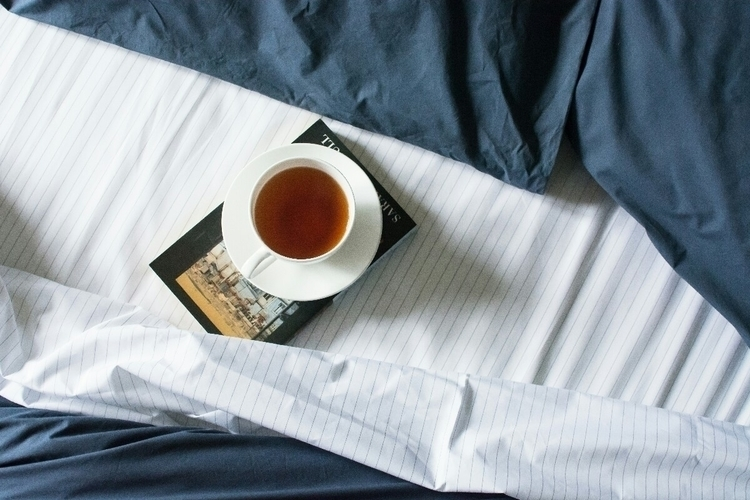 weekend nigh bed: Navy Pinstrip - thegoodsheet | ello