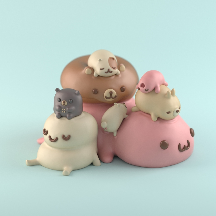 Playing - 3dmodel, design, kawaii - renegadesofphong | ello