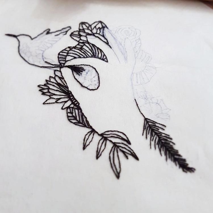 wip, textileart, embroidery, fiberart - fullmetalneedle | ello