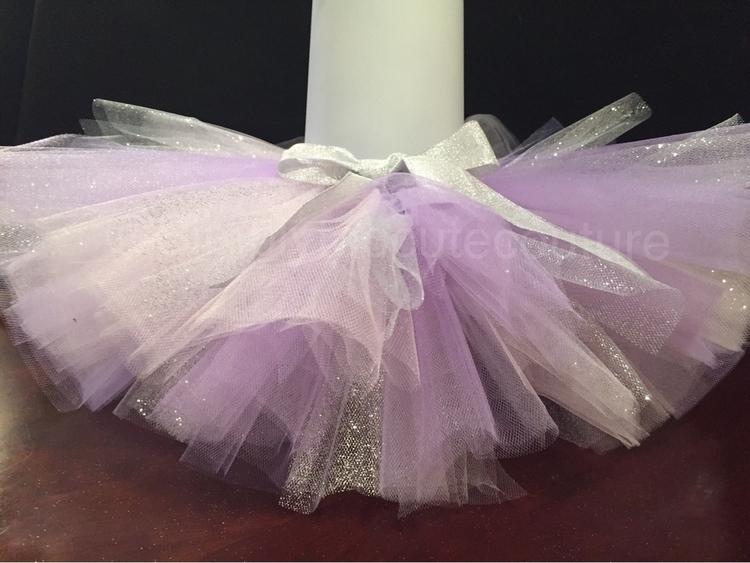 lavender silver glitter tutu!:s - simplytoocutecouture | ello