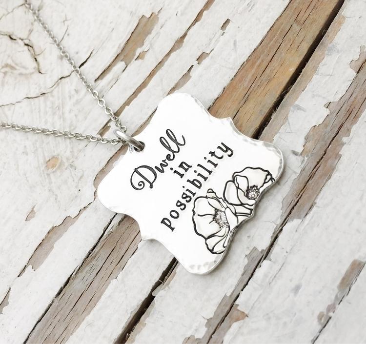 Lovely handstamped necklace fea - faeriekissage | ello