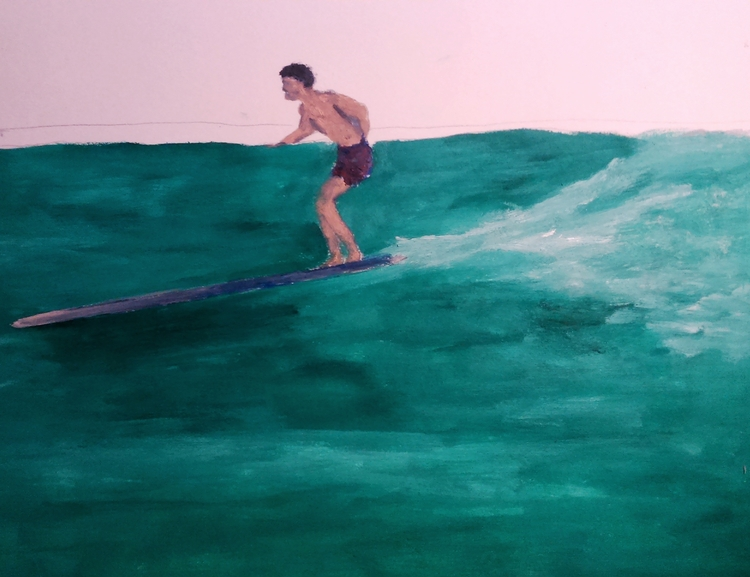 Surfing sketch ///// *oil paper - guiart | ello