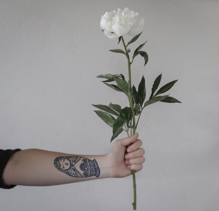 Peony + tattoo - flower, flowerpictures - willowstyleco | ello