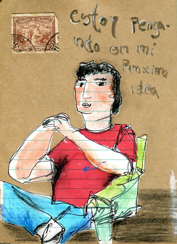 thinking idea - collageart, illustration - palahoyos | ello