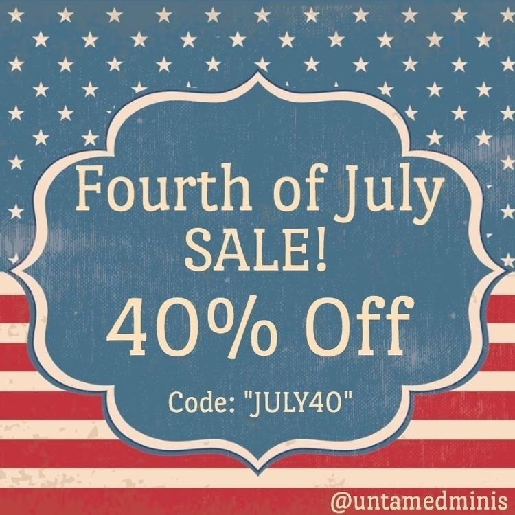 Fourth July SALE starts Receive - untamedminis | ello