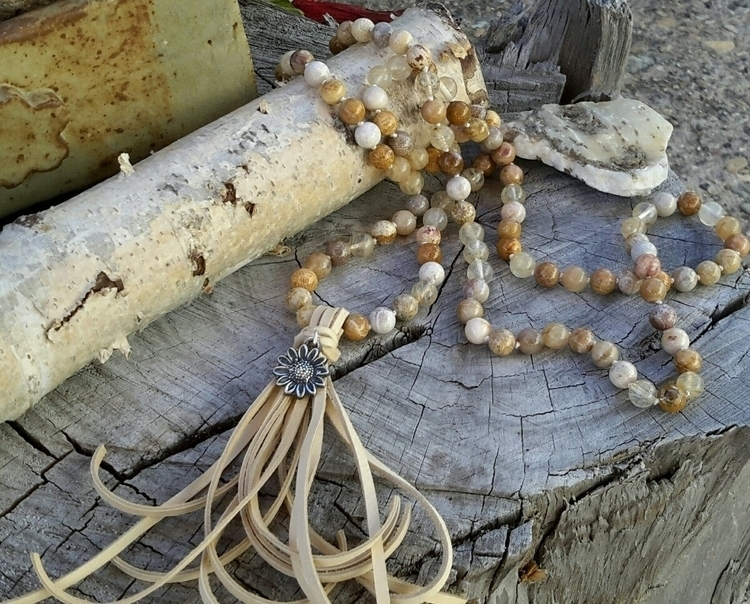 Fossilized coral mala golden qu - dangbravegirl | ello