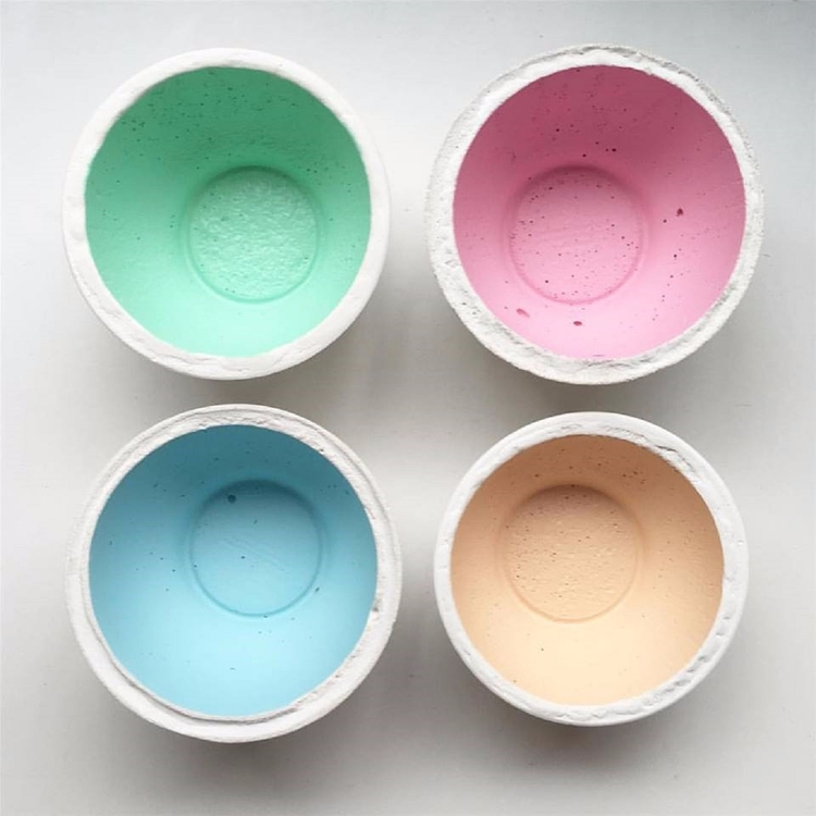 Small Concrete Bowls pastels on - sweetyellowdecor | ello