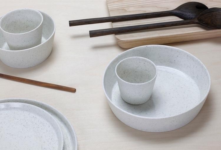 Peppered white porcelain set 2 - elliottceramics | ello