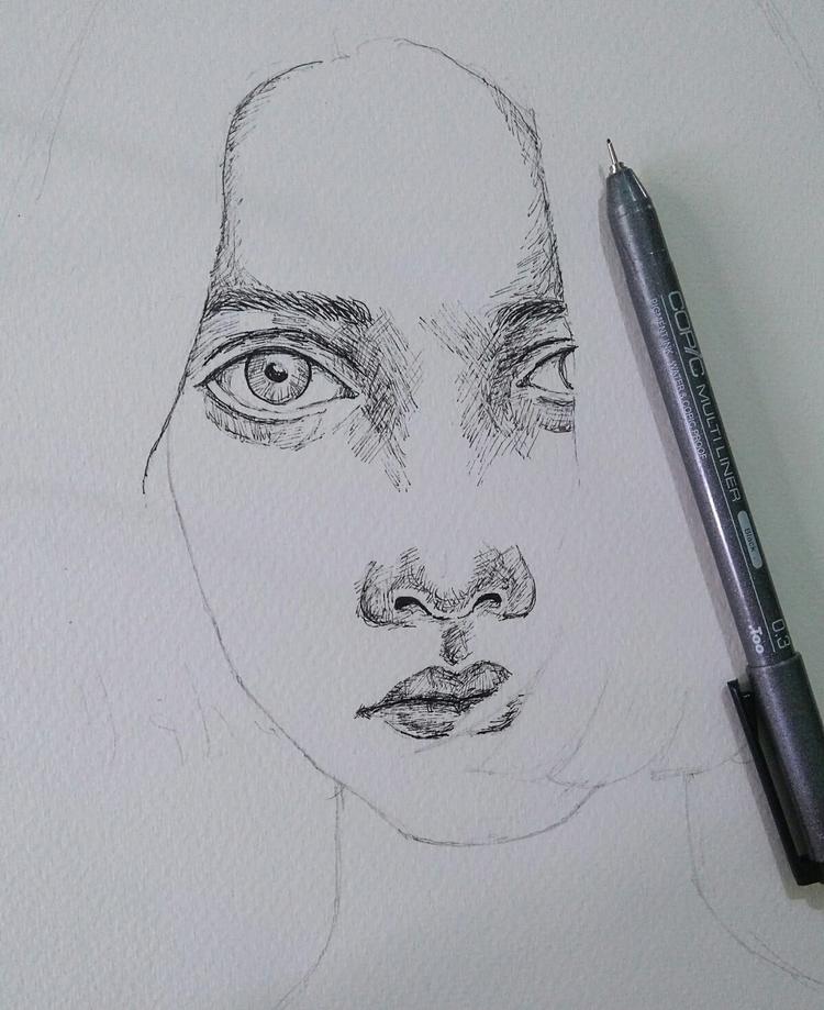 sketching - sketch, drawing, art - pallabi | ello