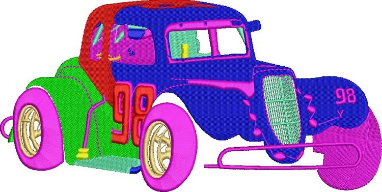 embroidered car - deanambro101 | ello