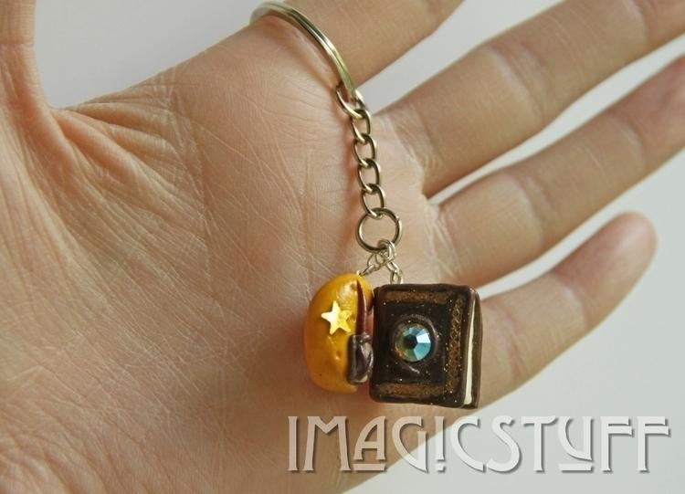 Magic bookmoon keychain.:sparkl - i_magicstuff | ello