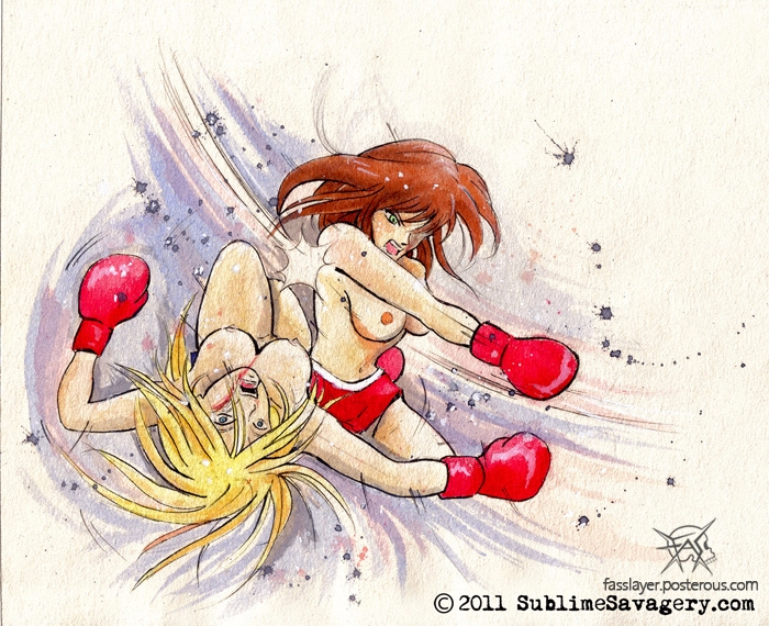 17-7-2 - boxing, fight, topless - fasslayer | ello