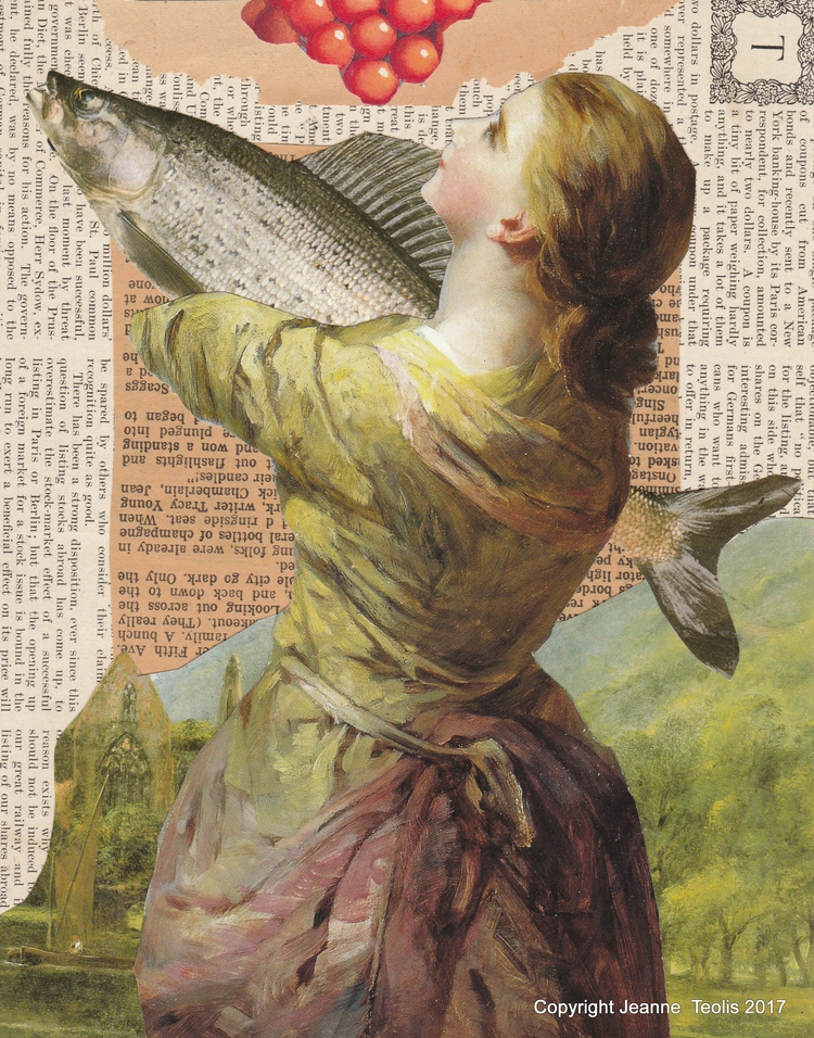 Fish Story Analogue collage cre - jeanneteolis | ello