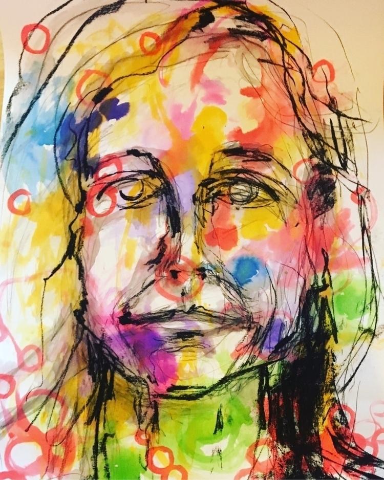 Work progress 'Gabriela - ink, beauty - arnabaartz | ello
