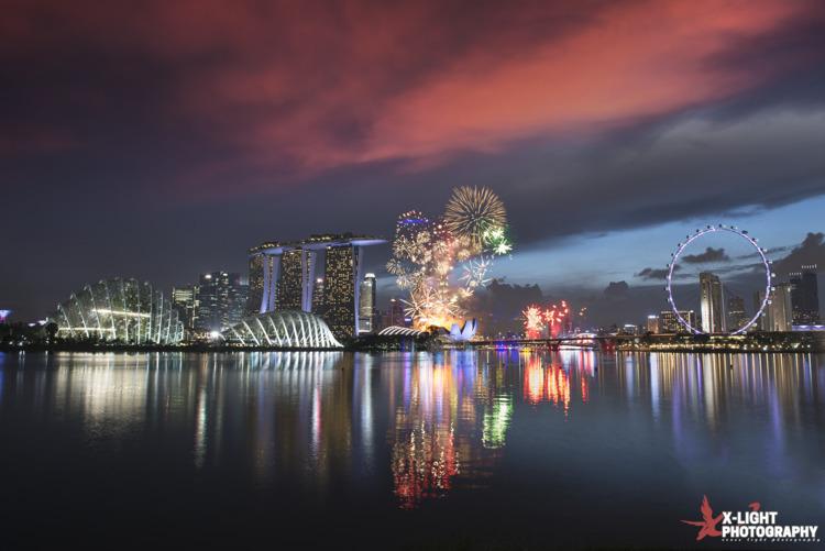 Epic sunset fireworks NDP NE Sh - wxzhuo | ello