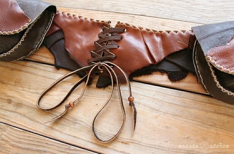 lace leather utility belt handc - wadadaafrica | ello