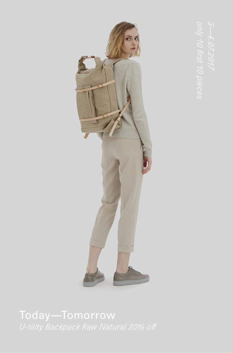 TODAY—TOMORROW 30% Backpack Raw - thisispaper   ello