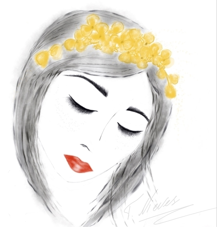 Crown sketch - fashionillustration - mivida | ello