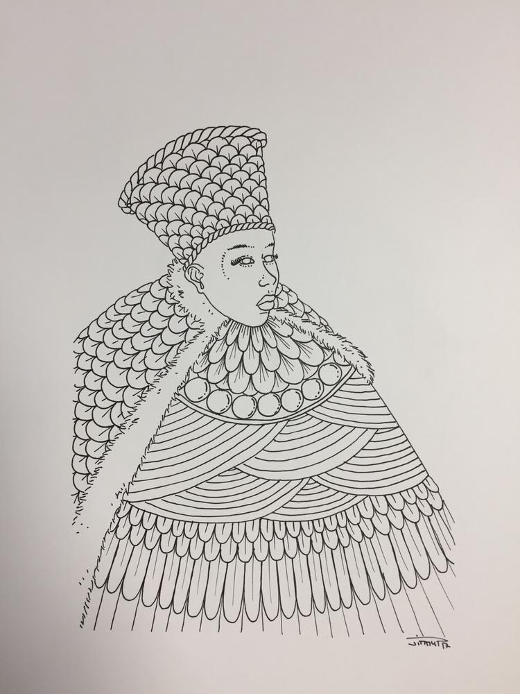 Shaman VII - illustration, drawing - jimmy-draws | ello