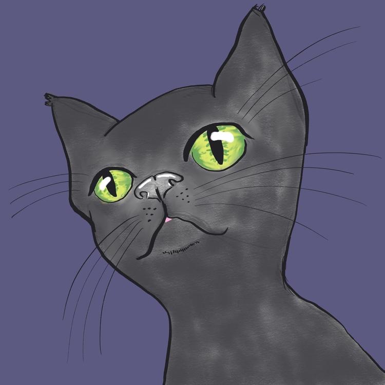 cat, illustration - reneeleigh | ello