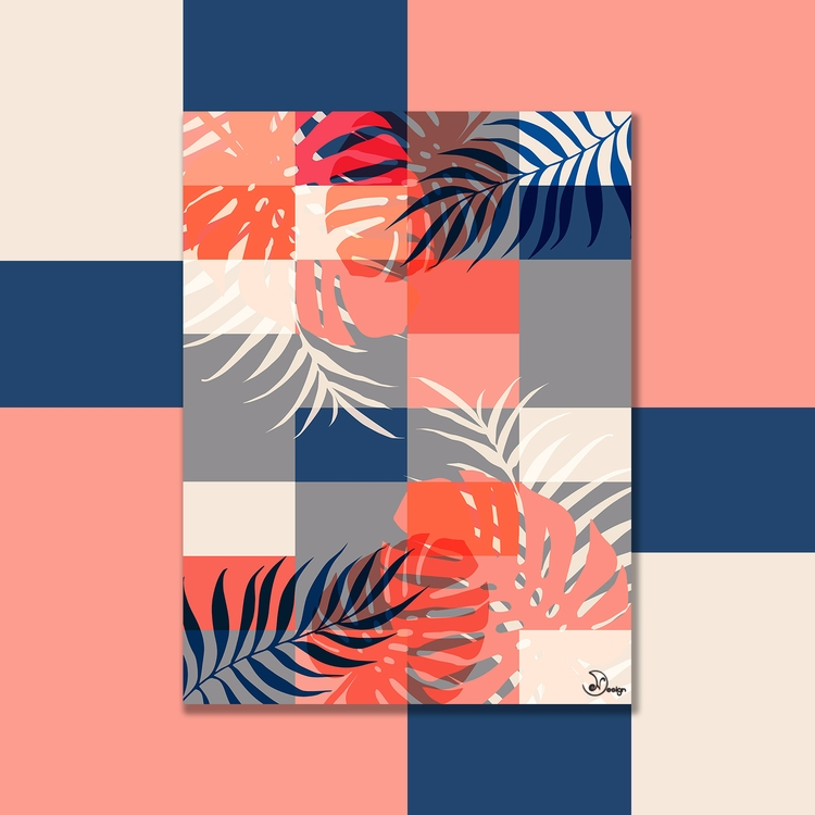 Tropical Puzzle Digital palms m - designdn | ello