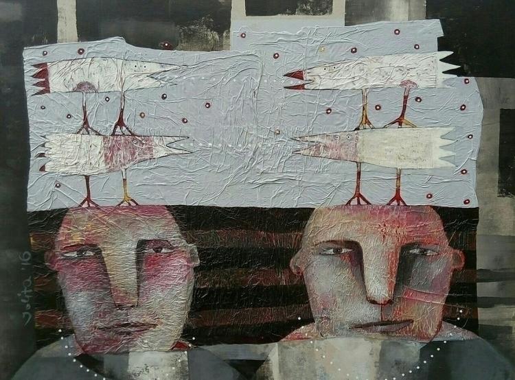 """quartet acrylic canvas 80x60 j - jolitacc | ello"