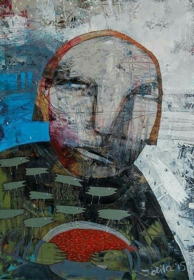 white crow acrylic canvas 50x70 - jolitacc   ello