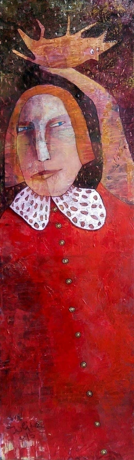 "red dress"" acrylic canvas 30X10 - jolitacc | ello"