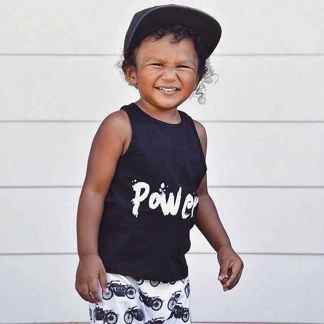 cutie POWER romper🖤  - coolkids - littleryderclothing | ello