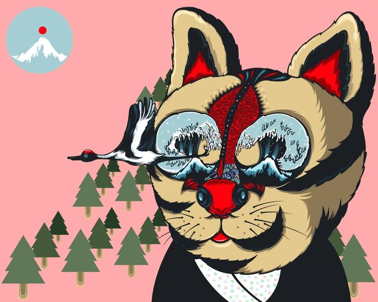 Red Cat FIsh - DigitalDecadeCyberia - kzengjiang | ello