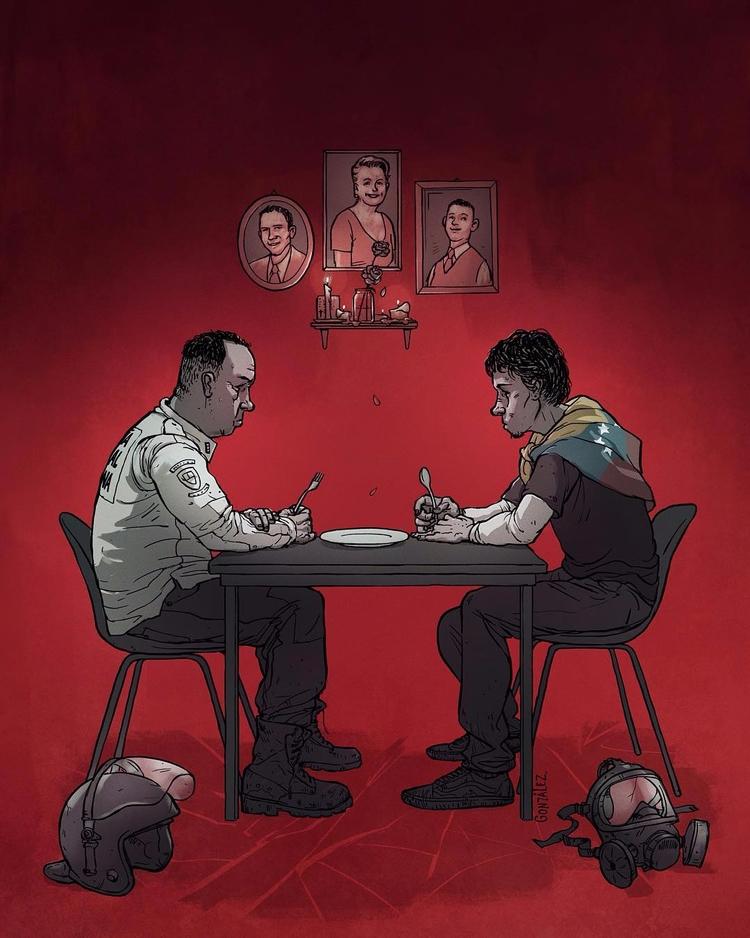supper. Powerful illustration B - fabimo | ello