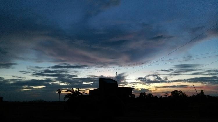 village evening pic - alifjaman | ello