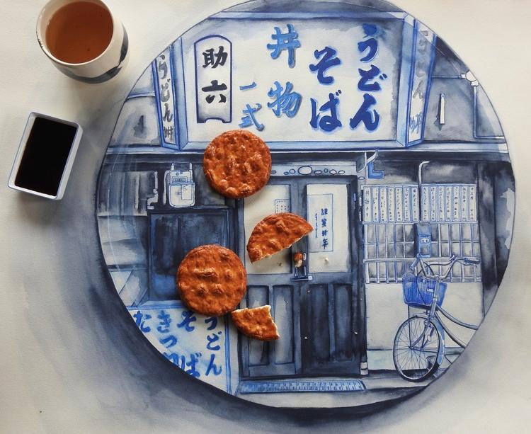 Big bowls, Osaka, 2016 丼物、大阪 [B - bluebearvendingco | ello