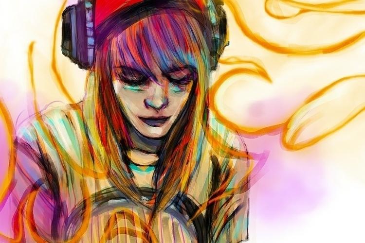 Music soothes - hayleywilliams, painting - andaelentari | ello